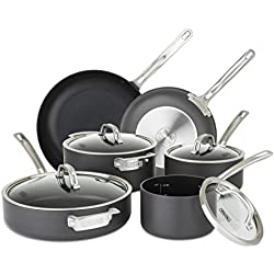 Viking 40051-9910 Hard Anodized Nonstick Cookware Set, 10 Piece, Gray