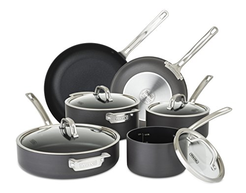 - Viking 40051-9910 Hard Anodized Nonstick Cookware Set, 10 Piece, Gray