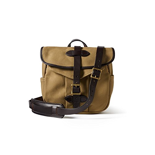 Filson Leather Bridle - Filson Small Rugged Twill Field Bag, Tan