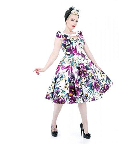 Pretty Fiori Dettaglio Kitty Cotone Stampa Vestito Cassetta 50s Di Taglio Con Fashion nk08wXPO