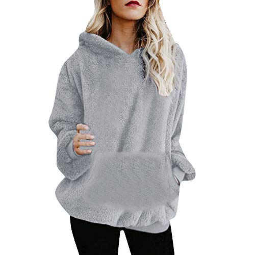 Womens Hoodies, FORUU Hooded Sweatshirt Coat Winter Warm Wool Zipper Pockets Cotton Coat Outwear at Amazon Womens Clothing store:
