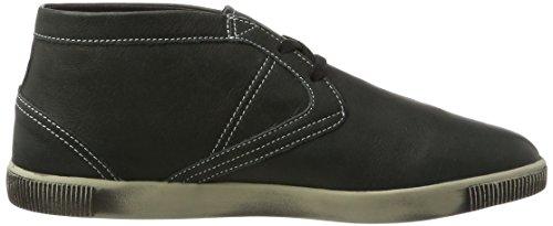 Softinos Herren Tim Smooth Hohe Sneaker Schwarz (Black)