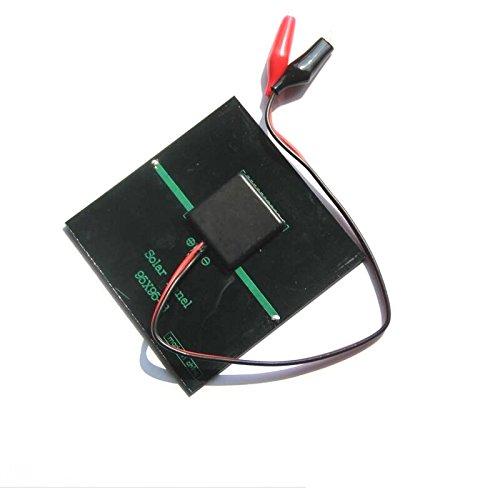 95 MM Globalflashdeal 1 W 5.5 V Solaire Epoxy Polycristallin Solaire Panneau Clip Pour Charging 3.7 V Batterie Systeme Jouet LED Lumiere 95