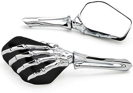 Kuryakyn Skeleton Hand Mirrors Chrome//Black 1759