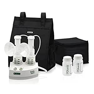 Ameda Purely Yours Double Electric Breast Pump White, Includes: Breast Pump, Dual HygieniKit System, Shoulder Bag, Cool'N Carry Milk Tote, AC Power Adapter, Milk Storage Bottles, Ice Packs