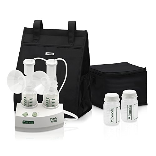 Ameda Purely Yours Bpa - Ameda Purely Yours Double Electric Breast Pump White, Includes: Breast Pump, Dual HygieniKit System, Shoulder Bag, Cool'N Carry Milk Tote, AC Power Adapter, Milk Storage Bottles, Ice Packs