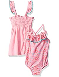 Baby Buns Toddler Girls' Tribal Cutie Terry Cover up Swim-Set