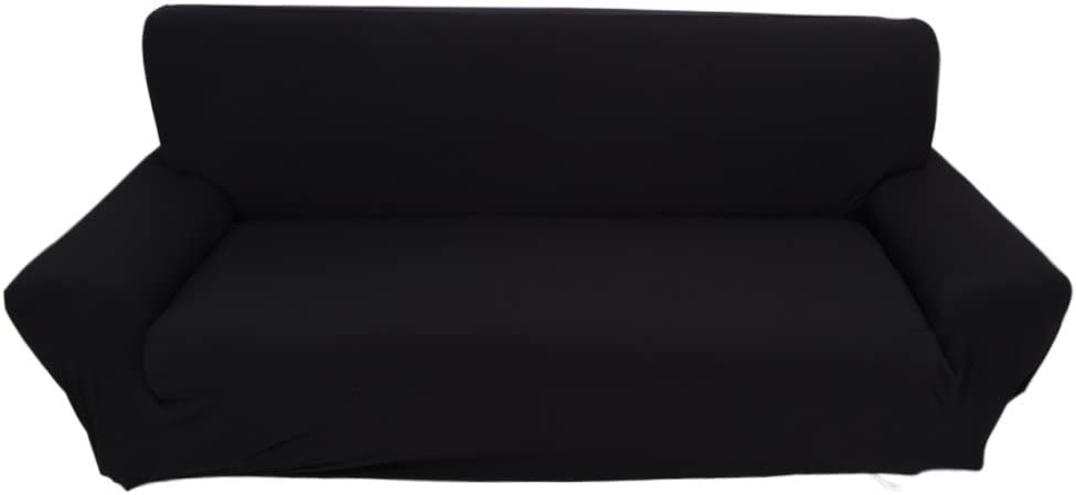 Sofa Cover, Stretch Couch Covers for 3 Cushion Couch-Couch Covers for Sofa-Sofa Covers for Living Room, Sofa Slipcover,Couch slipcover (Black)