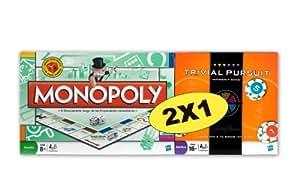 Hasbro Pack Monopoly std + Trivial Pursuit Apuesta y gana - Pack de dos juegos de mesa