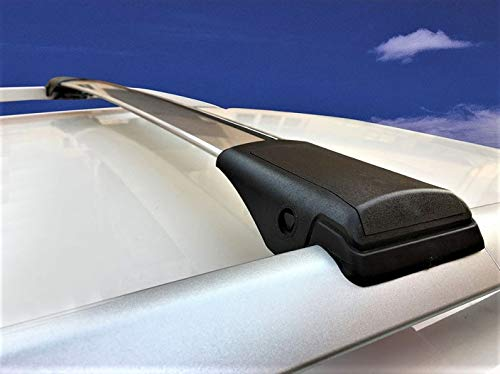 2009 Anodizado Plata HippoBar Aerodin/ámico /& Bloqueable Barras Transversales para Seat Alhambra MK1 7M 1996