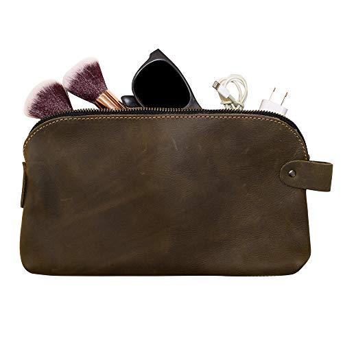 Large All Purpose Dopp Kit Utility Bag (Cords, Chargers, Tools, School / Office Supplies) Handmade by Hide & Drink :: Dark Jade