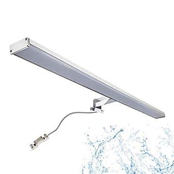 Spiegelleuchte LED BALI 15W Bad | IP44 Badlampe warmweiß 780mm für  Badezimmer Spiegelschrank | 1200Lm Spiegellampe | Chrom Aluminium Optik |  Oktaplex ...