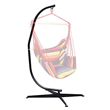 Medium image of ubrtools steel c frame hammock stand for hammock chair air porch swing indoor outdoor