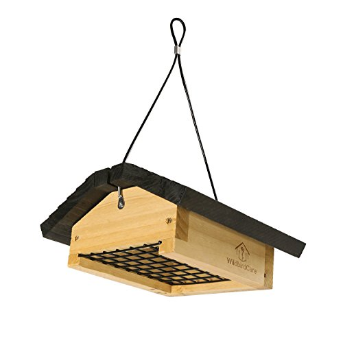 WildBird Care Wood Upside Down Suet Bird Feeder BCF2A - Cardinal Wood Feeder