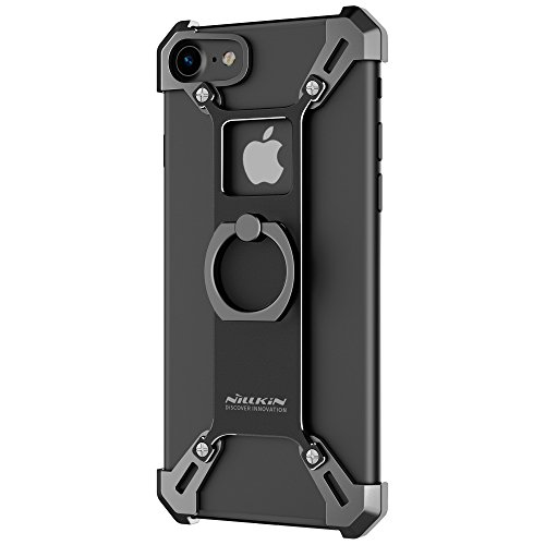"Price comparison product image [Upgraded] iPhone 7 Case, Nillkin Barde Metal Case [Unique Design] Back Cover with Enhanced Ring Kickstand for iPhone 7 4.7"" - Black"