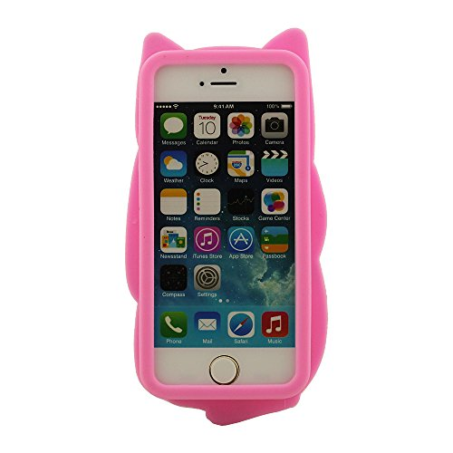 iPhone 5 5S 5C 5G Intéressant Emoji Style Silicone Coque (Emoji Fuck You) �?Rose Couleur