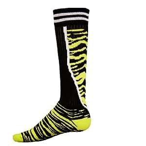 Red Lion Socks Top Cat Athletic Socks ( Black / Neon Green - Small )