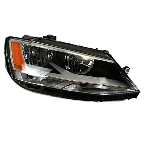 Koolzap For 11-18 Jetta Front Headlight Headlamp Halogen Head Light Lamp w/Bulb Right Side