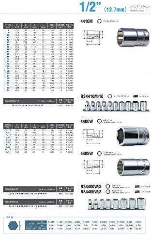 コーケン 1/2(12.7mm)SQ. サーフェイスソケット 22mm 4410M-22
