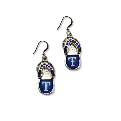 MLB Texas Rangers Crystal Flip Flop Earrings -