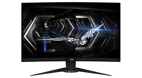 "GIGABYTE G27QC 27"" 165Hz 1440P Curved Gaming Monitor, AORUS CV27Q-SA"