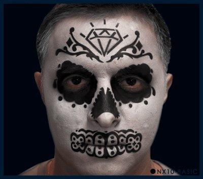 Nixs Coll-Sugar Skull Basic #4 Airbrush Makeup Face Template