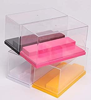 Fairbridge Acrylic Display case 7.9 x 3.9 x 3.5 inches for Any Action Toys and Mini Pop Figures and Vinylmation lot, Rock Stone, Dustproof Home Display (Black)