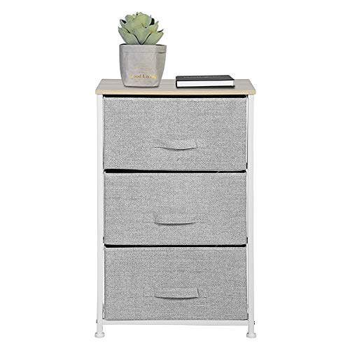 (Aingoo Dresser Storage 3 Drawer Closet Organizer for Clothes Bedroom Entryway Table Bedside End Table H28.5