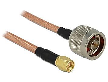 DeLOCK 88897 1m SMA - Cable coaxial (SMA, RG-142, 1 m
