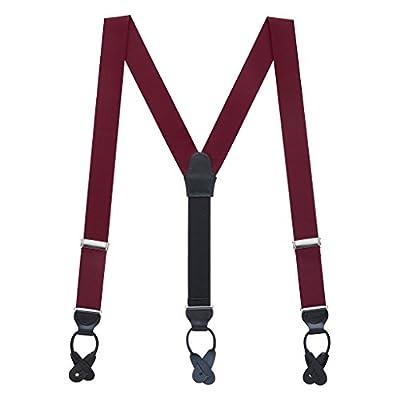 Suspender Store Mens Grosgrain Classic Colors Button Suspenders (2 Sizes, 13 Colors)