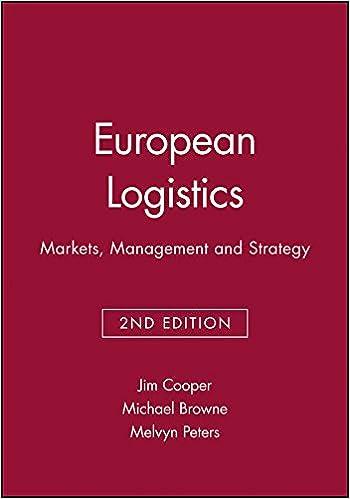 European Logistics: Markets, Management and Strategy