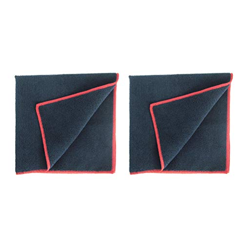 (NUOBESTY 2pcs Black Towel Whiteboard Towel Wipes Microfiber Wipes Dry Erase Towel Cleaning Cloth Eraser for Office School)