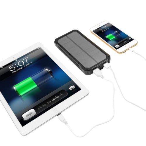 Waterproof 50000mAh USB Solar Charger Power Bank (Black) - 5