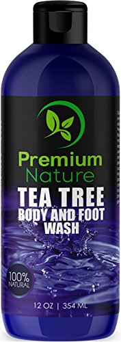 Tea Tree Body Wash Antibacterial - Antifungal Bodywash Tee Tree Essential Oil Soap Cleanser All Natural 100% Pure Shower Gel - Jock Itch Defense Acne Athletes Foot Odor Eczema Ringworm Treatment Men