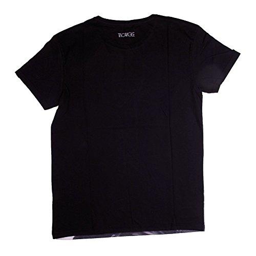 Two Angle T-Shirt Tiemsi , schwarz