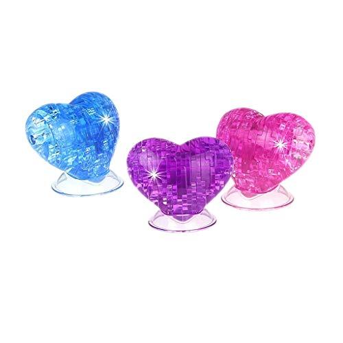 3d Crystal Puzzle Heart 3pcs]()