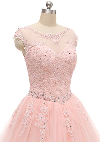 Evening Quinceanera Blush Long HEIMO Gown Lace Beading H152 2018 Dress Dresses Appliques Ball Sequined Prom SAAIwqWfxn