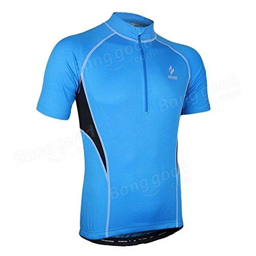 Moppi La manche courte d'hommes d'arsuxeo allant à vélo le jersey de bicyclette de vélo de jersey vêtements sportifs en plein air