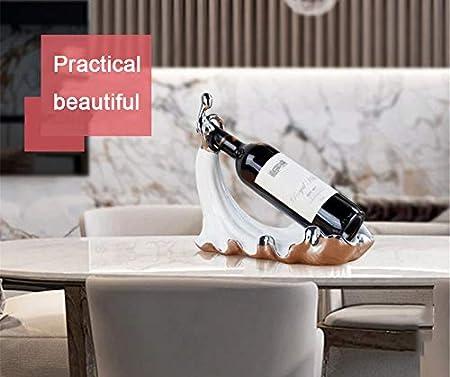 Shocly 1 Botella EstanteríA De Vino Botellero para Estante Botellas Agua O Refrescos Escaparate Estante Tinto DecoracióN Moda Creativo