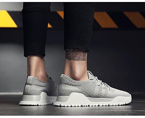 scarpe uomo grigio pelle uomo vera da scarpe slip estive mesh morbido estate on casual marchio Bebete5858 moda scarpe confortevole traspirante in vRYTFXqw
