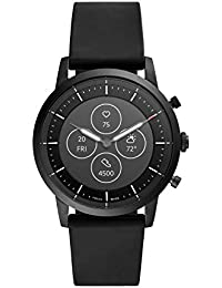 Men's Collider HR Heart Rate Stainless Steel and Silicone Hybrid Smartwatch, Color: Black (FTW7010)
