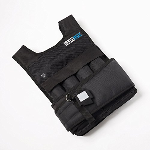 RUNmax Adjustable Weighted Vest with Shoulder Pads