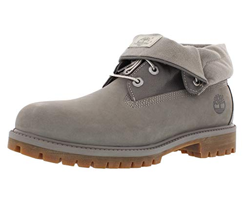 Timberland Men's Icon Collection Single Roll-Top Ankle Boot, Grey Nubuck, 9 Medium US ()