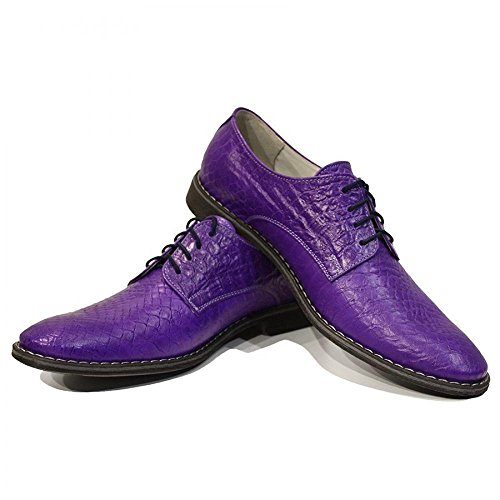 Modello Vitale - main Colorful italiennes Chaussures en cuir Oxfords Casual Souliers de Formal Prime Unique Vintage Gift Lace Up Robe Hommes