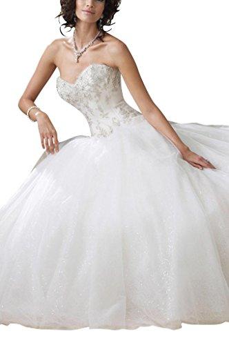 abito line BRIDE da Bianco di GEORGE A sposa principessa STxXAB