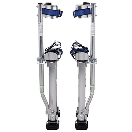 Goplus Drywall Stilts Drywall Lifts Aluminum Tool Stilt for Painting Painter Taping (18''-30'', Sliver) by Goplus (Image #1)