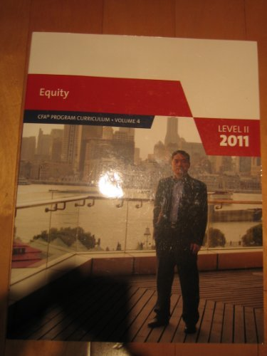 Equity. CFA Program Curriculum. Level II 2011 (Volume 4)