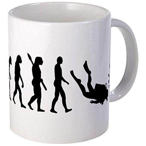 CafePress Evolution Diving Mug Unique Coffee Mug, Coffee Cup