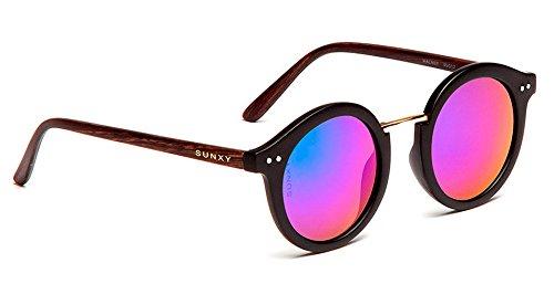 121a84e6e7 SUNXY - Gafas De Sol Con Lentes Espejo Walney Rv017, Unisex, Color Negro:  Amazon.es: Ropa y accesorios