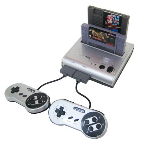 Price comparison product image Retro-Bit Retro Duo Twin Video Game System, Silver/Black